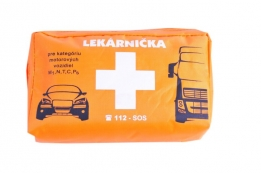 First aid kit for passenger and freight transportation – textile packaging