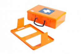 Orange plastic case without partitions - small